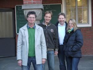 v.l.: Claus Franken (Kassierer), Carsten Sühling (1. Vorsitzender), Ulrich Kleine-Boes (Schriftführer), Ruth Glos (2. Vorsitzende)