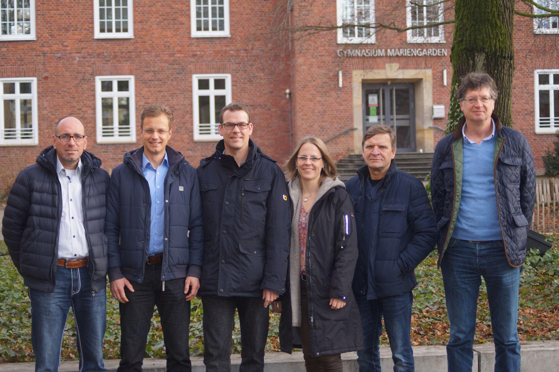 (v.l.n.r.) Martin Klinkenbusch (Beisitzer), Carsten Sühling (1.Vorsitzender), Christoph Kruse (Schriftführer), Ruth Glos (2.Vorsitzende), Leo Gormann (Beisitzer), Claus Franken (Kassenwart)