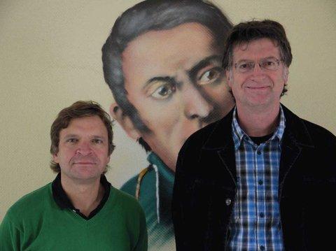 Die Lehrer Leo Gormann (links) und Claus Franken.