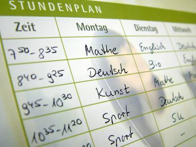 Stundenplanänderung