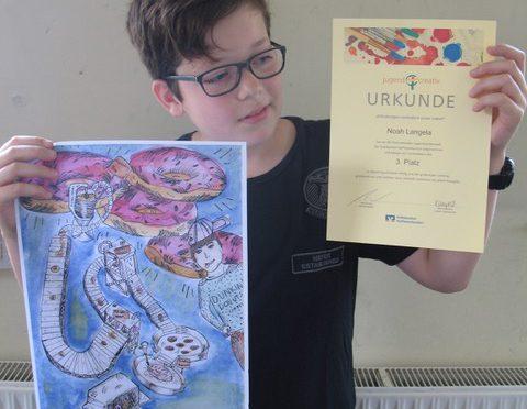 Erfolg beim Kunstwettbewerb
