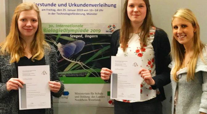 Mariengardenerinnen bei BiologieOlympiade erfolgreich!